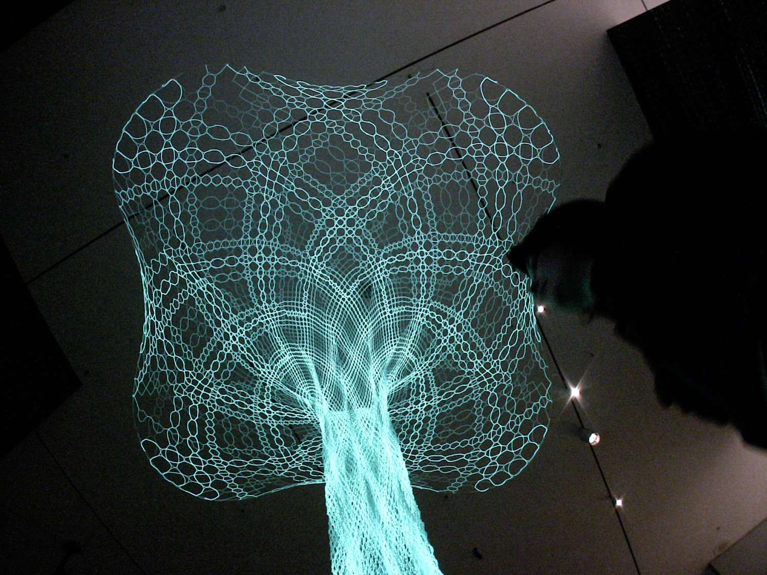 Commissioned to present our recent experiments in responsive textile architecture at the MoMA, New York. Sonumbra is the worlds first fully animated lace-architectural work.